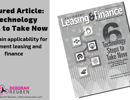 Applying Emerging Technology in Equipment FInance: Six Steps to Take Now