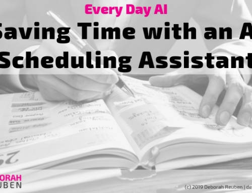 Everyday AI Experiment: How Might AI Assist in Scheduling Meetings?