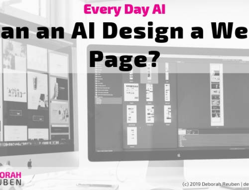 Everyday AI Experiment: How Might AI Assist in Web Page Design?