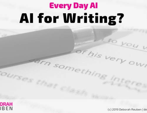 Everyday AI Experiment: Could an AI Help Improve my Writing?